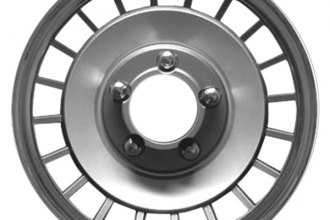 "Replace® - 15"" Remanufactured 20 Depressions Silver Wheel Cover"
