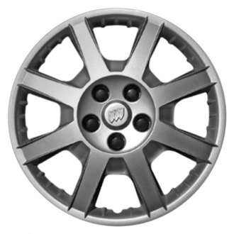 "Replace® - 17"" Remanufactured 8 Spokes All Painted Silver Wheel Cover"