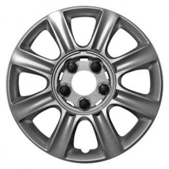 "Replace® - 16"" Remanufactured 8 Spokes All Painted Silver Wheel Cover"