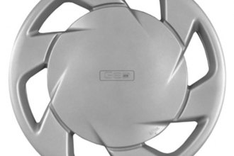 "Replace® - 14"" Remanufactured Passenger Side 6-Spoke Silver Wheel Cover"