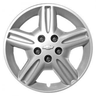 "Replace® - 16"" Remanufactured 7 Spokes Silver Wheel Cover With Chrome Emblem"
