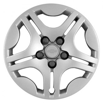 "Replace® - 15"" Remanufactured 5 Split Spokes Silver Wheel Cover"