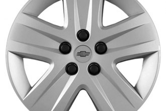 "Replace® - 17"" Remanufactured 5-Spoke Silver Wheel Cover"