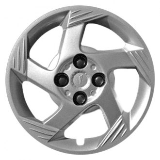 "Replace® - 15"" Remanufactured 5 Spokes All Painted Silver Wheel Cover"