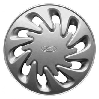 "Replace® - 15"" Remanufactured 10 Slots Silver Wheel Cover"