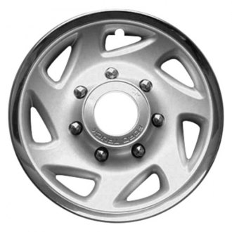 "Replace® - 16"" Remanufactured 7 Slots Silver Wheel Cover With Center Hole"