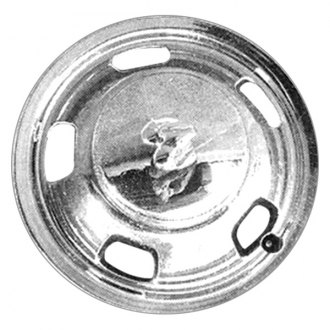 "Replace® - 17"" Front Remanufactured 5-Vent Chrome Wheel Cover"