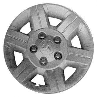 "Replace® - 17"" Remanufactured 6 Spokes Silver Wheel Cover"
