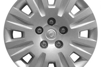 "Replace® - 17"" Remanufactured 8-Double-Spoke Silver Wheel Cover"