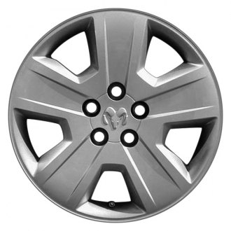 "Replace® - 17"" Remanufactured 5 Spokes Silver Wheel Cover"