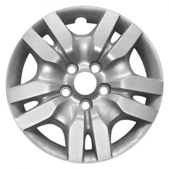 "Replace® - 16"" 10 Spokes All Painted Silver Wheel Cover"