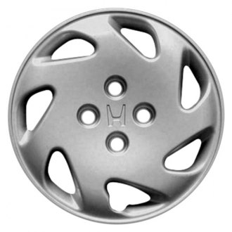 "Replace® - 14"" Remanufactured 7 Spokes Silver with Black Wheel Cover"