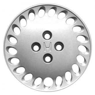"Replace® - 14"" Remanufactured 21-Spoke Silver Wheel Cover"