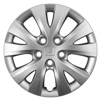 "Replace® - 15"" Remanufactured 5 V Spokes All Painted Silver Wheel Cover"