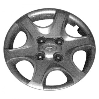"Replace® - 13"" Remanufactured 6-Spoke Silver Wheel Cover"