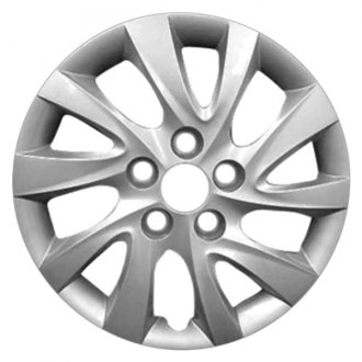 "Replace® - 16"" Remanufactured 10 Spokes All Painted Silver Wheel Cover"