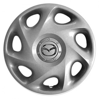 "Replace® - 14"" Remanufactured 7 Slant Spokes Silver Wheel Cover"