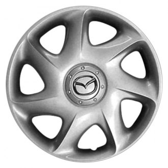 "Replace® - 15"" Remanufactured 7 Slant Spokes Silver Wheel Cover"