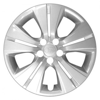 "Replace® - 16"" 5 Double Spokes Silver Wheel Cover"