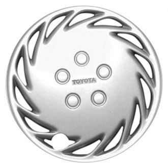 "Replace FWC61047U20 - 13"" Remanufactured 14 Slanted Slot Silver Wheel Cover"