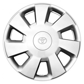 "Replace® - 14"" Remanufactured 7 Square Holes Silver Wheel Cover"