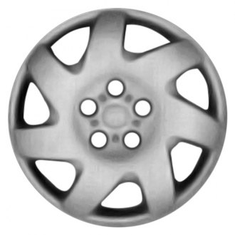"Replace® - 16"" Remanufactured 7 Slant Spokes Silver Wheel Cover"