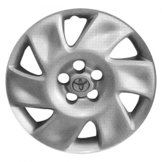 "Replace® - 16"" Remanufactured 6-Spoke Silver Wheel Cover"