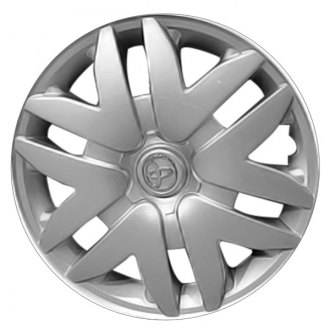"Replace® - 16"" Remanufactured 12 Spokes Silver Wheel Cover"