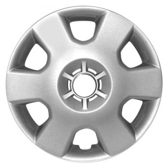"Replace® - 14"" Remanufactured 6 Spokes All Painted Silver Wheel Cover"