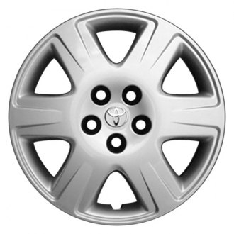 "Replace® - 15"" Remanufactured 6-Spoke Silver Wheel Cover"