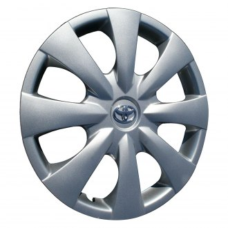 "Replace® - 15"" Remanufactured 8 Spokes All Painted Silver with Mesh and Silver Wheel Cover"