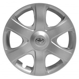 "Replace® - 16"" Remanufactured 6 Spokes All Painted Silver Wheel Cover"