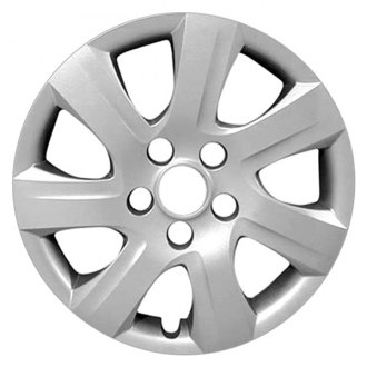 "Replace® - 16"" Remanufactured 7 Spokes All Painted Flat Silver Wheel Cover"