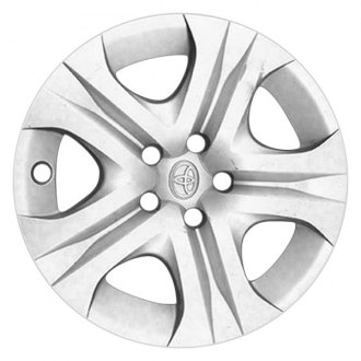 "Replace® - 17"" Remanufactured 5 Spokes All Painted Silver Wheel Cover"