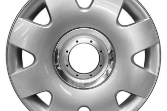 "Replace® - 16"" Remanufactured 8-Spoke Silver Wheel Cover"