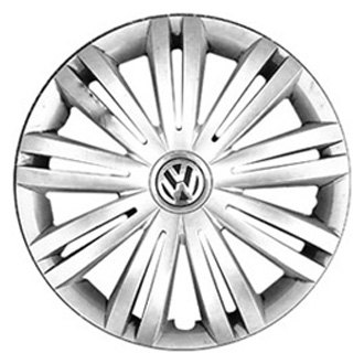 "Replace® - 16"" Remanufactured 18 Spokes All Painted Silver Wheel Cover"