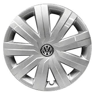 "Replace® - 15"" Remanufactured 9 Spokes All Painted Silver Wheel Cover"