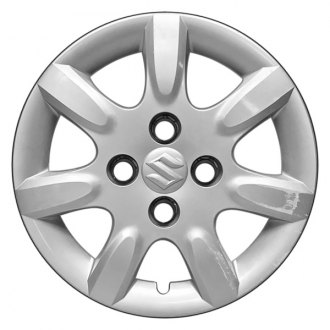 "Replace® - 15"" Remanufactured 7 Spokes All Painted Silver Wheel Cover"