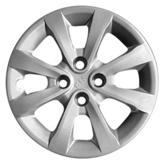 "Replace® - 15"" Remanufactured 8 Spokes All Painted Silver Wheel Cover"