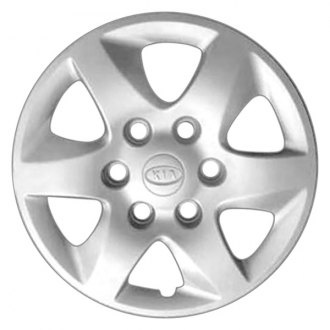 "Replace® - 16"" Remanufactured 6 Spokes Silver Wheel Cover With Silver Logo"
