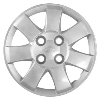 "Replace® - 14"" Remanufactured 7 Spokes All Painted Silver Wheel Cover"