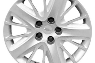 "Replace® - 18"" Remanufactured 15-Spoke Silver Wheel Cover"