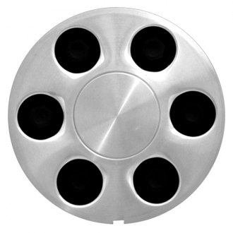 Replace® - Machined with Black Lugs Wheel Center Cap Set