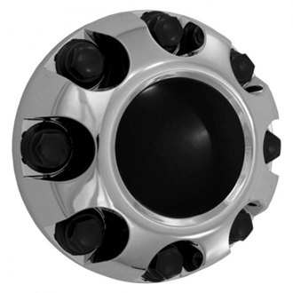 Replace® - Chrome with Brushed Center Wheel Center Cap Set