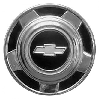Replace® - Remanufactured Black Wheel Center Cap With Chevrolet Logo