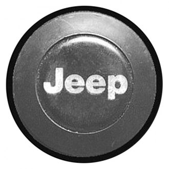 Replace® - Remanufactured Black Wheel Center Cap With Jeep Logo
