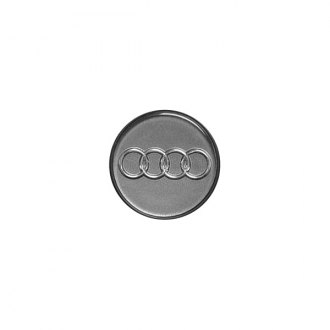 Replace® - Remanufactured Dark Gray Wheel Center Cap With Audi Logo