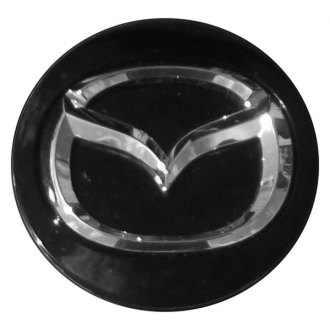Replace® - Remanufactured Black Wheel Center Cap With Mazda Logo
