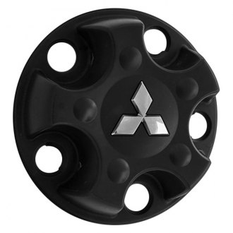 Replace® - Remanufactured Black Wheel Center Cap With Mitsubishi Logo