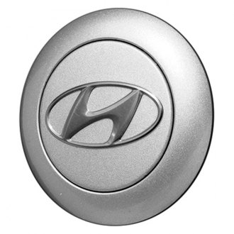 Replace® - Remanufactured Silver and Chrome Wheel Center Cap With Hyundai Logo